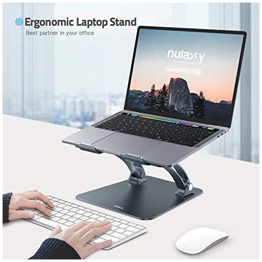 Nulaxy Soporte ergonómico para ordenador portátil, ángulo de altura ajustable 2