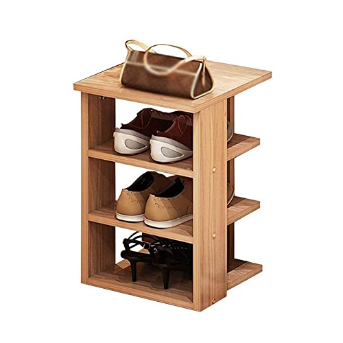 FEANG Estante de Zapatos 4 Niveles Multifuncional Zapato Estante estantería estantes de Almacenamiento Zapato Organizador Stand para Entrada, Pasillo y Armario Organizador de Zapatos