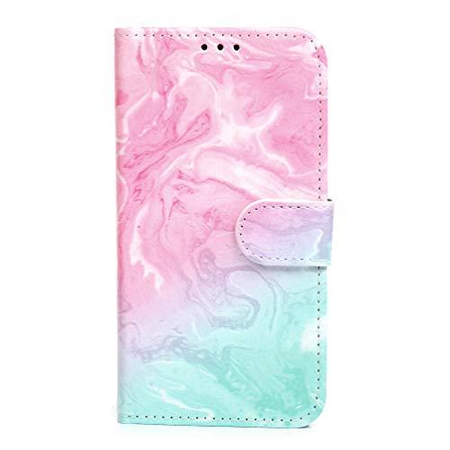 Funda para Samsung A42 5G, 3D de piel sintética con absorción de golpes, funda protectora magnética de poliuretano termoplástico con ranuras para tarjetas para Samsung Galaxy A42 5G