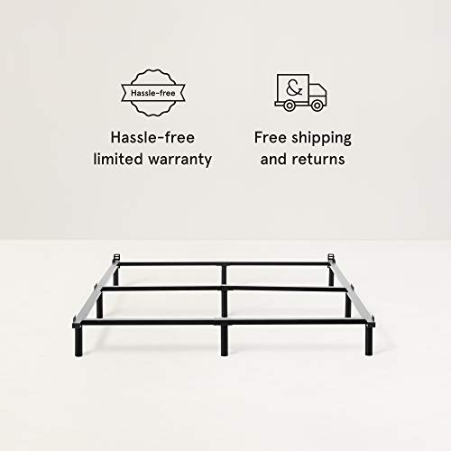 Metal Base Bed Frame for Queen Mattress by Tuft & Needle | Simple Tool-Less Assembly | Powder-Coated Black Steel | 5-Year Warranty
