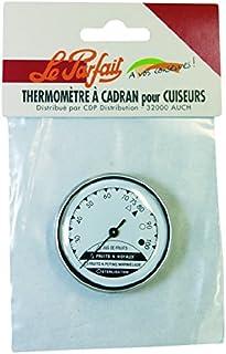 Le Parfait 2423 THERMOMETRE à Cadran, Verre, Argent/Blanc, 3,3x3,3x13,3 cm
