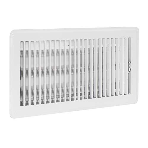 EZ-Flo 61638, White Floor Register Diffuser, 12 inch (W) x 6 inch (H) Opening, 6
