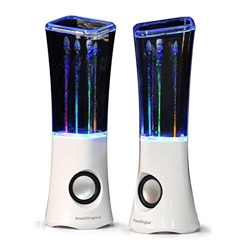 SoundOriginal 2016 Dancing Water Speakers - 4 Led Light Show Fountain Stereo Speakers (Black)