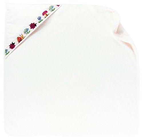 Feiler paulix00220504 Badetuch mit Kapuze Pauli Größe 80 x 80 cm, weiß