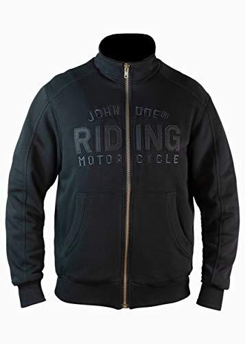 John Doe Stand Up Neck Riding Schwarz Motorradjacke mit Protektoren CE, Gr. 3XL