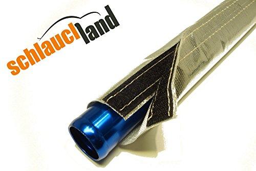 1m Alu-Titan Hitzeschutzschlauch ID 60mm Klettverschluss *** Heat Sleeve Thermoschutz Isolierschlauch Kabelschutz