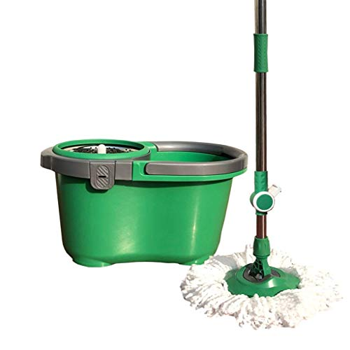 Magic Mop Eco-Friendly Manual Mop Spinning Mop Bucket Green Magic Juego de Cubos y trapeadores giratorios