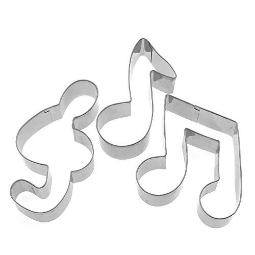 Lawman 3x Musik Notizen Schilder Fondant Teig Cookie Cutter Set
