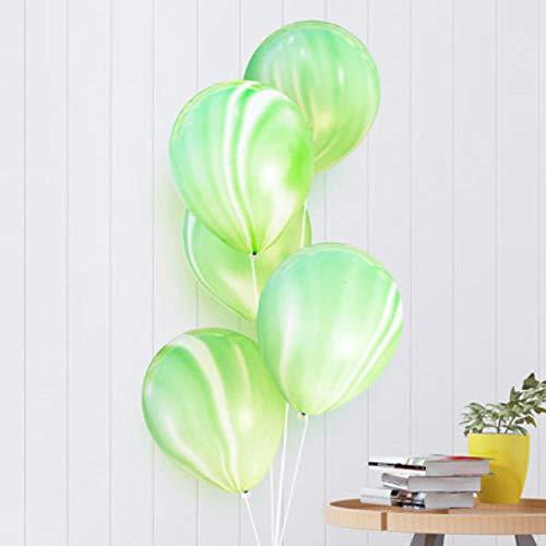 SELLA 10 Zoll Malerei Achat Luftballons Bunte Wolke Luft Luftballon Geburtstagsfeier Ballon Dekoration Balony, 5Green