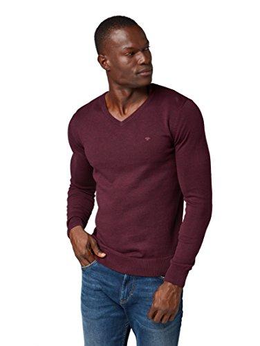 TOM TAILOR Herren Basic V-Neck Pullover, Violett (Gipsy Purple 5465), Large