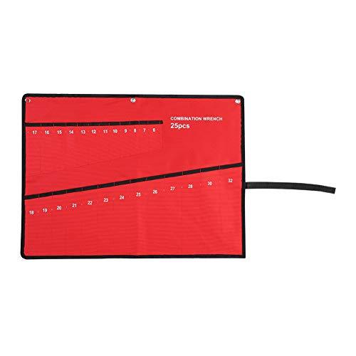 Fydun Bolsa de Herramientas, Multi-Pocket Roll Up Tools Bolsa de Almacenamiento Llave Alicate Soporte de Llave Organizador de Lona Seguro e Inodoro para electricistas y Jardines(25 Boca)