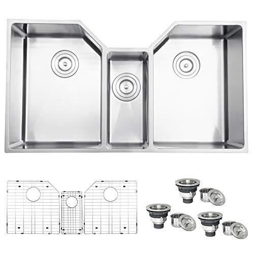 Ruvati Undermount 35″ Stainless Steel Triple Bowl Kitchen Sink