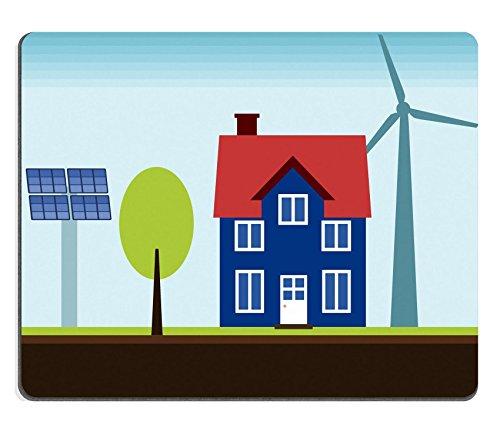 Goobull Luxlady ratón para Gaming Imagen ID: 22820302Eco casa Propiedad con Self sostenible Fuentes Renovables De Energía Eólica turbina y Paneles de energía Solar