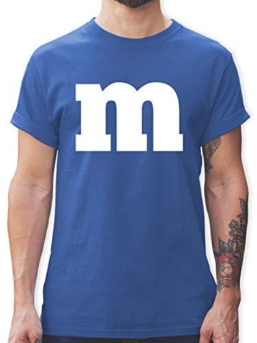 Karneval & Fasching - Gruppen-Kostüm m Aufdruck - L - Royalblau - Tshirt Gruppen-kostüm - L190 - Tshirt Herren und Männer T-Shirts