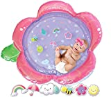 Tummy Time Water Mat | Baby Girl Inflatable Play Mat | Floating Tummy Time Toys | Sweet Pink Tummy Time Baby Water Mat | 2020 Girl Design | XL Infant and Toddler Playmat for 3 6 9 Months Toddler Toy