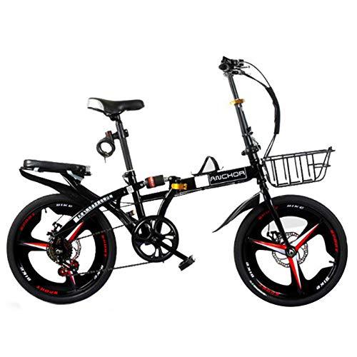 MYANG Balance Bike Rapid, 16,20 Inch Bicycle, Adjustable Bicycle,Bring Basket Magnesium Frame (Black),Black,20