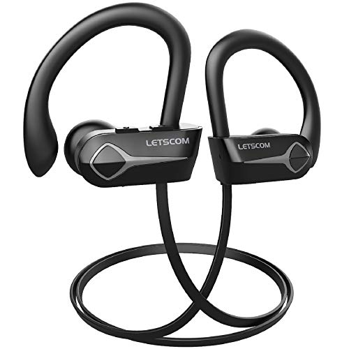 41Ls9PdgvJL. SL500  - DACOM Bluetooth Headphones Waterproof IPX7 Wireless Sports Earphones HiFi Stereo in Ear Earbuds w/Mic for Gym Running Workout 7-9 Hrs Noise Cancelling(Black)