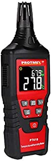 Protmex Professional Digital Hygrometer Accurate Thermometer Humidity Gauge Indoor/Outdoor Temperature Humidity Meter with Dew Point and Wet Bulb Temperature,Min/Max Hold, Hand-held LCD Back-Light