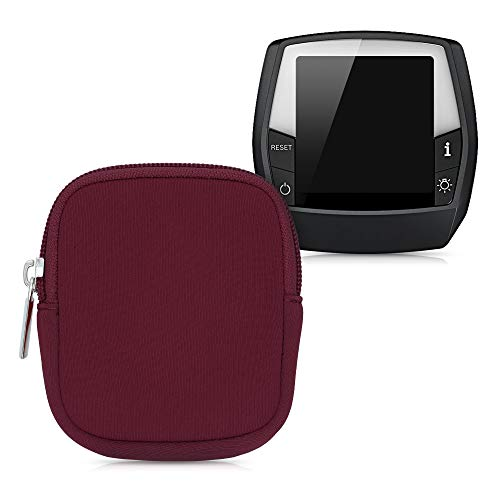 kwmobile Tasche kompatibel mit Bosch Intuvia - E-Bike Computer Neopren Hülle - Schutztasche Rot