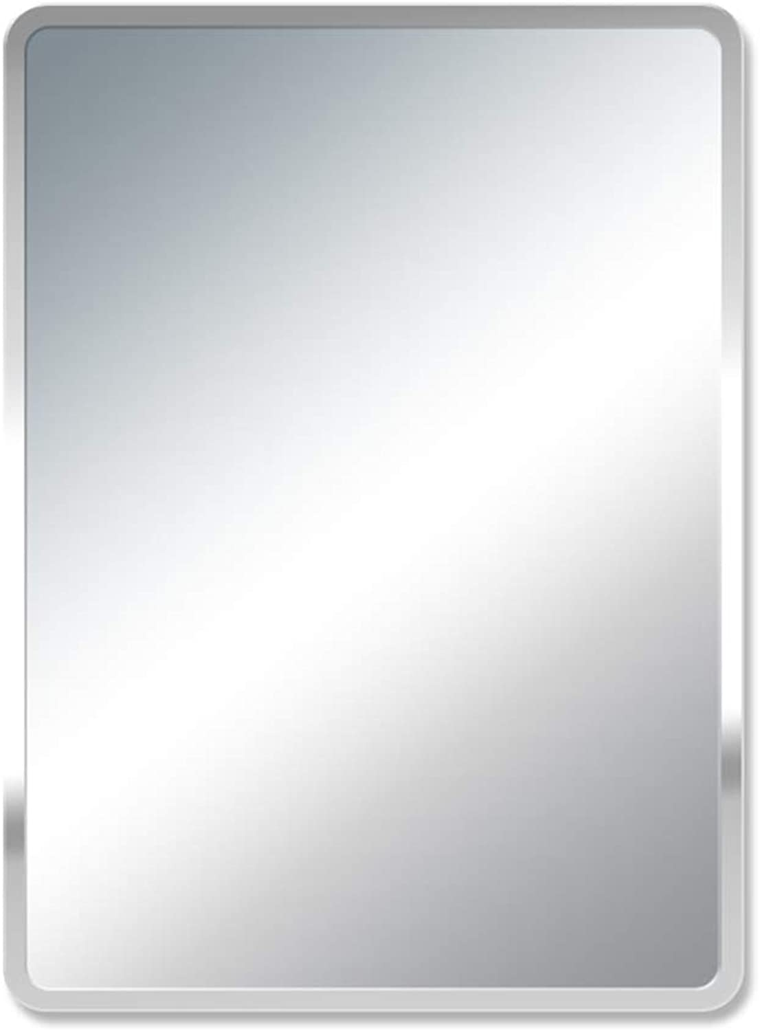 Nclon Rectangle Hanging Wall Mirror, 14 x18 (35x45cm) Frameless Beveled Hanging Wall Mirror Bathroom Restroom Vanity Bathroom Mirror-35x45cm