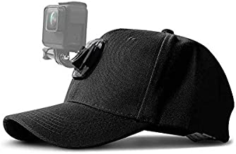 ROCAPRAW Action Cameras Head Mount Hat with Quick Release Buckle Mount Adjustable Cap Compatible for GoPro 5 Session Hero 9/8/7/6/5/4/3 Plus/3/2/1/DJI OSMO etc.