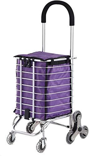 Carrinho de compras para idosos, carrinho de compras, dobrável, portátil, com rodinhas e rodinhas