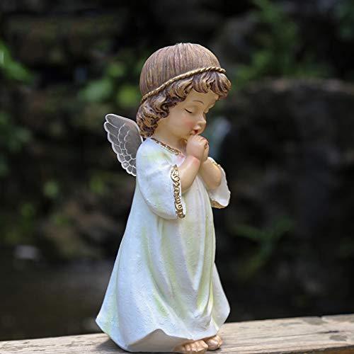 NYKK Ornamento de Escritorio Jardín pequeño ángel Estatua, Escritorio Figura, Ilustraciones Decorativo...