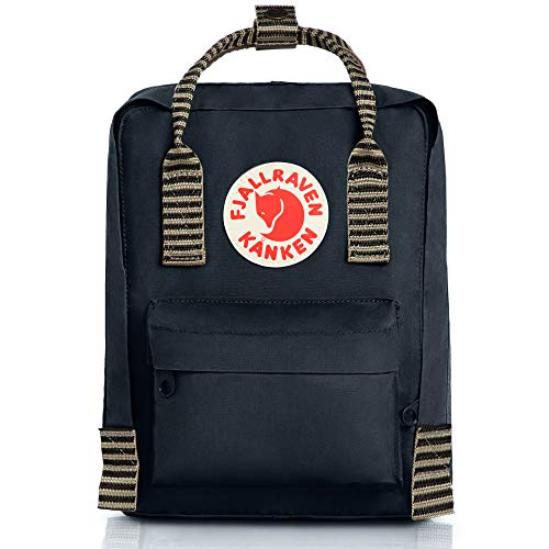 Fjallraven - Kanken-Mini Classic Pack, Heritage and Responsibility Since 1960, Black-Striped,One Size