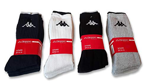 Kappa - 6 pares de calcetines de tenis de rizo de algodón, mod. K002. Bianco 39-41