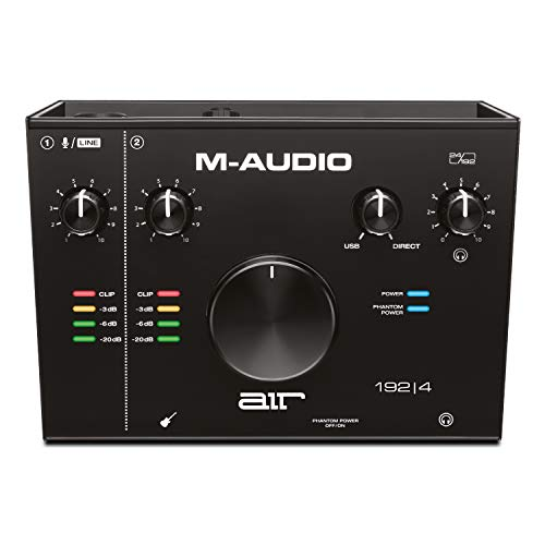 M-Audio AIR 192 | 4 - 2-in-2-out-USB-Audio-Interface mit ProTools und Ableton Live Record-ing-Software mit Studio-Effekten und virtuellen Instrumenten