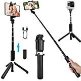 HUAY Selfie Stick Tripod, Aviation Metal Material, Live Broadcast and Self-Timer Not Slide for iPhone, Galaxy, Gopro, Huawei and Sports Camera