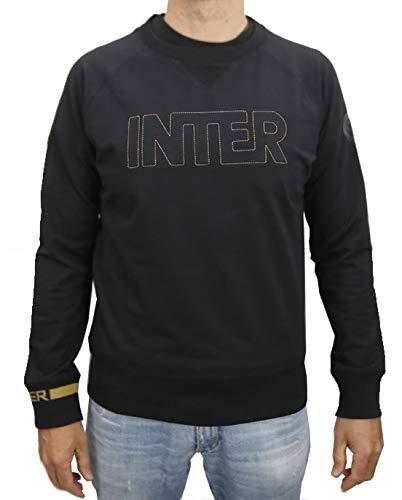 Inter Felpa Uomo Girocollo in Cotone Stretch, Nero, XXL