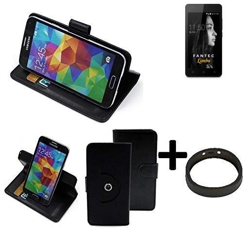 K-S-Trade® Case Schutz Hülle Für FANTEC Limbo + Bumper Handyhülle Flipcase Smartphone Cover Handy Schutz Tasche Walletcase Schwarz (1x)