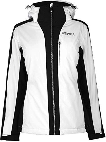 Nevica Damens Meribel Ski Jacke Skijacke Weiß/schwarz M