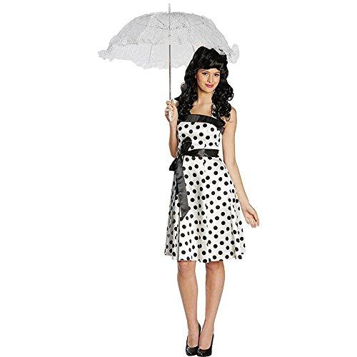 Rubies NOWY kostium damski lata 50. sukienka biało-czarna rozm. 34