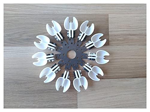 JIAN Rueda de turbina de Agua de Pelton con 11 Cuchara de plástico, diámetro Externo = 165 mm y 6,5 Pulgadas Exquisite