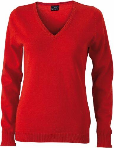 James & Nicholson JN658 pullover donna scollo a V dark-orange X-Small