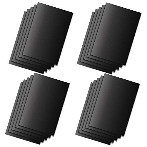 HAC24 20er Set Dauerbackpapier schwarz Dauer Backfolie Backpapier Dauerbackfolie