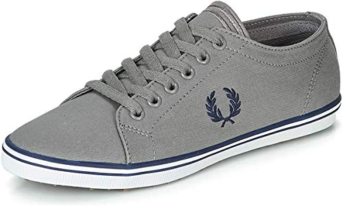 Fred Perry Kingston Twill Falcon Grey/Carbon Blue UK 6.5 (US Men's 7.5)