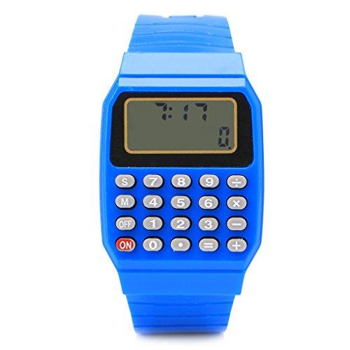DENGHENG Modische Kinder-Armbanduhr, Silikon, Datumsanzeige, elektronischer Taschenrechner