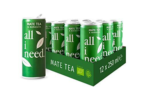 all i need Mate Tee, matcha, 250 ml (12er Pack)