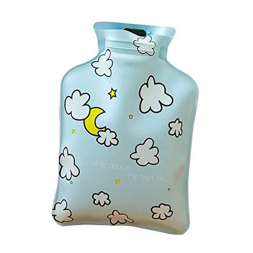 NSWZX Botella de bolsa de agua caliente portátil de 1 pieza, embotelladora de agua caliente de mini dibujos animados de invierno, para calentador casero de oficina cálido sobre 14X10 cm