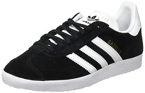 adidas Originals Gazelle, Zapatillas Hombre, Core Black White Gold Metallic, 48 2/3 EU