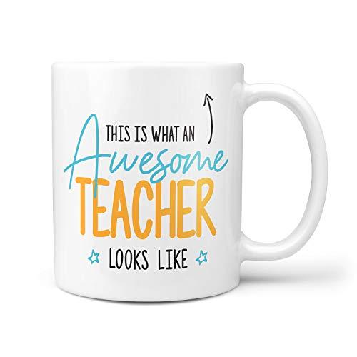 This is What an Awesome Teacher Looks Like Gift Present Christmas Birthday 10oz Ceramic Mug