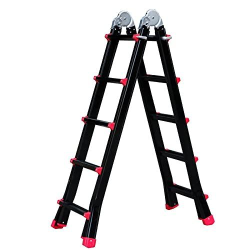 WXYI Escalera telescópica de Aluminio, (5 escalones) Escaleras Plegables Multiusos Escalera de extensión telescópica Plegable Little Giant 330 Libras de Capacidad