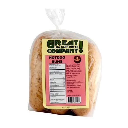 Great Low Carb Bread Co. - Hot Dog Buns - 3 Bags: Amazon.com ...