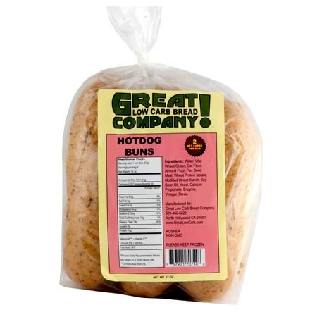 Great Low Carb Bread Co. - Hot Dog Buns - 3 Bags