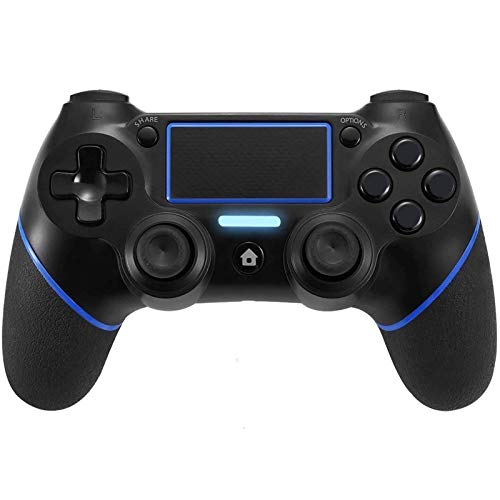 Sollop Wireless Bluetooth Controller for PS4 Playstation 4 - Touch Panel Joypad with Dual Vibration Six Axies DualShock Game Remote Control Joystick, with USB Charge Cord