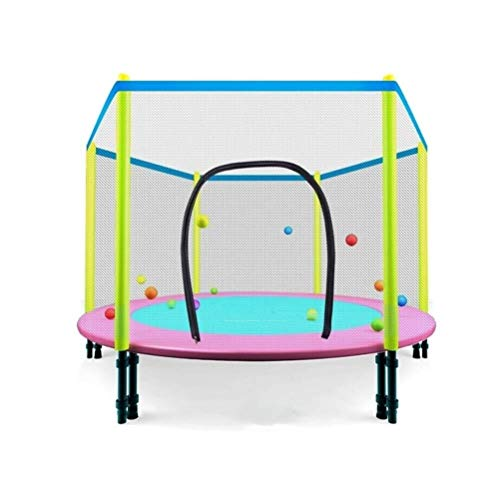 Trampoline Indoor Foldable Rebounder Trampolines Collapsible Bouncer, Indoor Mute High Elasticity Rebounder, Home with Protective Net Child Early Education Activity Toy Trampoline Load: 200kg Workout