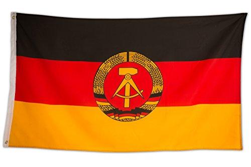 SCAMODA Bundes- und Länderflagge aus wetterfestem Material mit Metallösen (DDR) 150x90cm